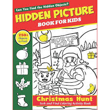 Hidden object games 100 levels. Hidden Picture Book For Kids Christmas Hunt Seek And Find Coloring Activity Book A Creative Christmas
