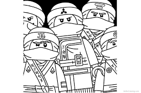 Coloring Pages Ninjago For Kids With Characters From Lego Ninjago