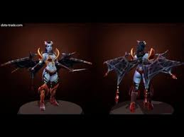 dota 2 queen of pain wings of the ruby web legendary wings