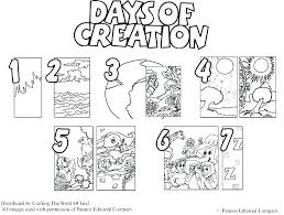 Coloring Pages For Bible Stories Bible Story Creation Coloring Pages