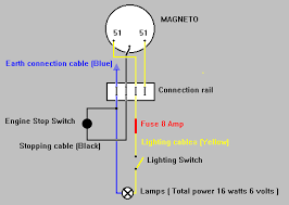 vire wiring diagram magneto stop switch volt ac lighting vire 7 magneto stop switch 6 volt ac lighting system circuit diagram
