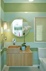 Bathroom Ideas  Striped Yellow White Painted Wall Bathroom And - Yellow and white bathroom