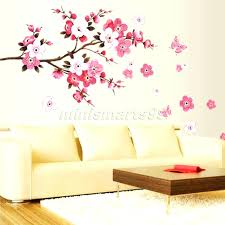 white cherry blossom tree wall decal white tree wall decal with large  branches birds wall decal .