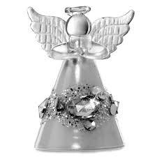 Sikora Christbaumschmuck Aus Glas Engel Mit Kristallen 3er Set H 7cm