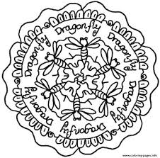 Small Picture dragonfly mandala s9470 Coloring pages Printable