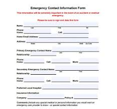 emergency contact template contact template word free printable contact list templates