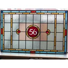 sd029 victorian edwardian 7 panel stained glass exterior original door the star