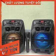 Loa Bluetooth Karaoke Công Suất Cực Lớn, Loa Xach Tay Mini MN-10 Âm thanh  chuẩn có chỉnh echo,âm lượng trên loa kèm Mic chính hãng 549,099đ