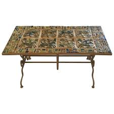 one of a kind persian tile coffee table for