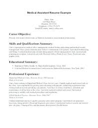 Sample Of A Medical Assistant Resume Resume Examples Office