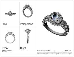 a 3d rendering of a diamond enement ring