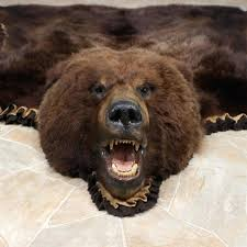bear hide rug faux bear rug grey faux fur rug fake animal skin rugs