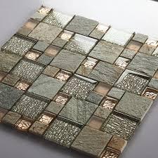 grey glass mosaic tile natural stone tiles marble tile wall backsplashes tiles bathroom tile sblt638