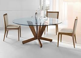 image of round glass dining tables