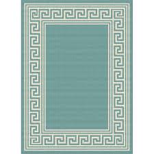 gct1019 5x8 5 x 7 medium greek key aqua indoor outdoor rug garden city