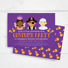 Boys Birthday Party Invitations Templates Halloween Birthday Invitation Template Kids Birthday Party