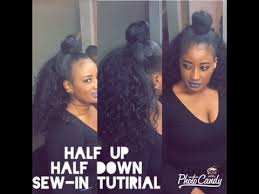 Half Up Half Down Sew In Braid Pattern