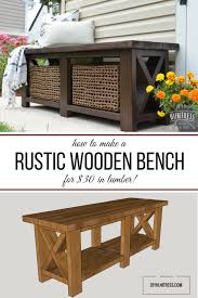 build a rustic bench how to diy a rustic x bench free woodworking plans by diy