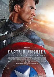 Captain America Poster Chris Evans Profile Punching Hitler Retro