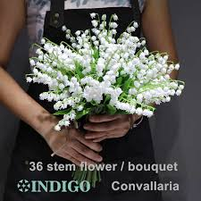 INDIGO 7pcs/Buandle белый Convallaria <b>букет</b> мини <b>размер</b> ...