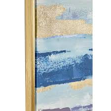 litton lane blue and gold abstract