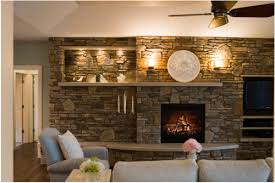 related images. Stacked stone fireplace ...