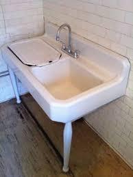 vintage metal enamelware baby wash tub basin white with black rim
