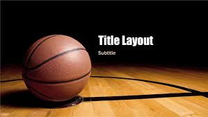 Basketball Powerpoint Template Basketball Presentation Widescreen