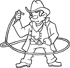 Cowboy Coloring Pages Cowgirl Coloring Pages Cowboy Coloring Sheet