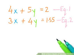 image titled solve a system of two linear equations step 2