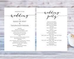 Wedding Program Template Template Business