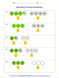 equivalent fractions worksheets with visual models