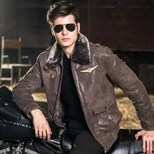 aviator jacket mens real leather pigskin air force jackets motorcycle genuine men coat canada