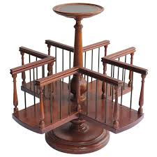 wood revolving desk book stand for