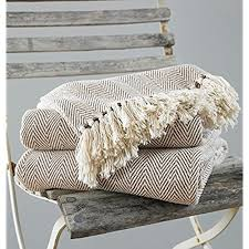 o throw blanket for chair bed or sofa 100 percent cotton beige 170 x 200 cm