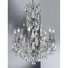 classic lighting versailles crystal chandelier antique bronze 9009abc