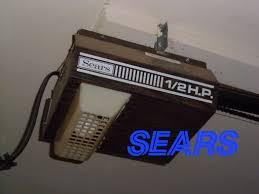 vintage 1 2 hp sears roebuck garage door opener you