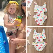 Toddler Kids Baby Girls Watermelon Swimsuit Swimwear Tankini Bikini ...