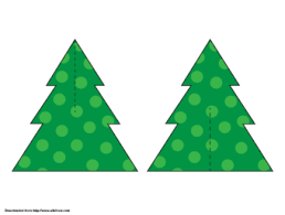 Christmas Tree Stencil Printable How To Make A Paper Christmas Tree From A Stencil 6 Steps