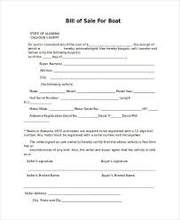 Standard Bill Of Sale For Boat Free 36 Bill Of Sale Forms In Word Doc