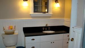 bathroom vanity black. White Bathroom Vanity With Black Granite Top