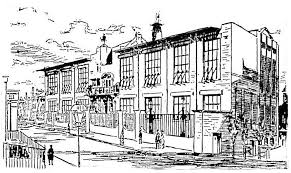 architecture building drawing. Sketch From Glasgow Herald 26th June 1907 Re School Of Art Architecture Building Drawing