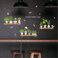 plant potted glass door cafe