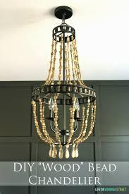 diy wood bead chandelier life on virginia street on remodelaholic
