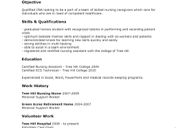 Nursing Assistant Resume Skills Resume Template Phenomenal Sample