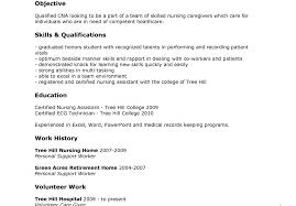 Nursing Assistant Resume Skills Certified Nursing Assistant Resume