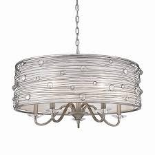 golden lighting joia 5 light peruvian silver modern contemporary candle chandelier