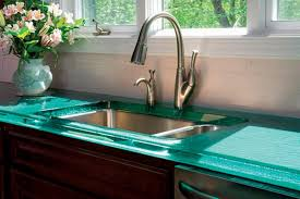 recycled glass countertops kitchen the value of black