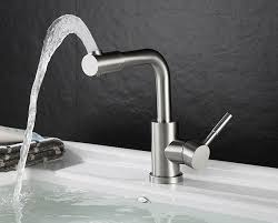 single handle bathroom basin mixer tap satin nickel stainless steel 80107
