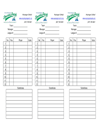 Baseball Lineup Cards Sheets Fill Online Printable Fillable